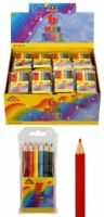 6 Half Size Colouring Pencils - Pinata Toy Loot/Party Bag Fillers Wedding