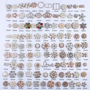 120PCS Fashion Bling Rhinestone Buttons With Ivory Beads  Jewelry Accessories
