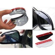 2pcs Universal Car Rear View Side Mirror Rain Board Black Sun Visor Shade Shield