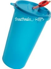 TUPPERWARE Pitcher Mega Tumbler Handolier Beverage Container 48 oz Blue Jug New