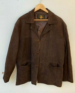 VALINA brown suede leather jacket size XL XXL made in Australia
