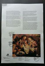 Portugal Natal 2004 Christmas Jesus Festival (stamp on info sheet) *rare