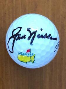 JACK NICKLAUS  Signed Augusta National Golf Ball    A 10 AUTOGRPAH JSA BB44341