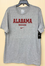 NWT Nike Dri-Fit Men's XL Alabama Crimson Tide Gray NCAA Soccer Athletic T Shirt
