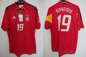 2004-2005 Germany Deutschland Jersey Shirt Trikot Away Adidas Schneider #19 L