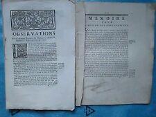 2 FACTUMS 1761 HABITANS DE MARON (Meurthe et Moselle): Construction d'une église