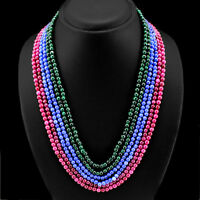 GORGEOUS AMAZING 445.00 CTS EARTH MINED ATTRACTIVE RED RUBY PEAR BEADS NECKLACE
