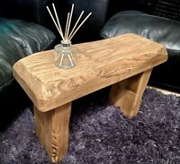 Rustic reclaimed coffee table side table bench seat armchair hall unit wine tv
