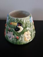 Yankee Candle Toucan Jungle Paradise Bird Leaves Floral Candle Jar Shade 22 Oz