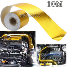 10M Car Gold High Heat Insulation Aluminium Wrap Exhaust Header Pipe Tape Cloth