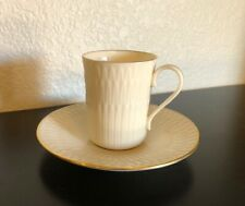 LENOX FINE BONE CHINA TEA CUP AND SAUCER GOLD TRIM VINTAGE MADE IN THE USA