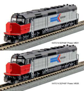 Kato N Scale SDP40F 2 Loco Set Amtrak Ph I #501 #508 DCC Ready 1769205 1769206