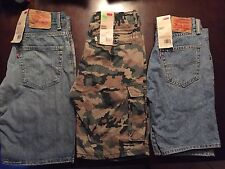 Lot Of 3 New Men's Levis 569 505 Green Camo Cargo Shorts Size 29 $145