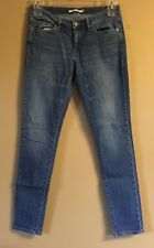 Levi's 711 Womens Jeans Size 29 Skinny Leg Medium Wash Factory Distressed