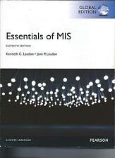 ESSENTIALS OF MIS ~ 11th Edition ~ by K. Laudon & J. Laudon ~ Global Edition