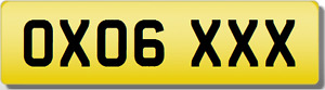 OX OXO  XXX SEXY  Private CHERISHED Registration Number Plate