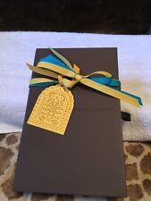 Louis Vuitton Empty Wallet Presentation Box w Unique Label & Turquoise Ribbons