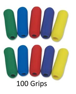 100 Foam Pencil Grips Lefty or Right Handedness Comfort Grip Classroom Pack