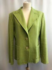 MAX MARA Womens Green Wool Blend Jacket, Size UK 16