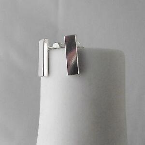 Stunning Handmade Sterling Silver Simple Minimalist Bar Stud Earrings