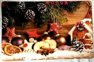 4 Platzdeckchen abwaschbar Weihnachten Advent Zimt Lebkuchen