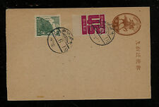 Japan uprated postal card not used Ms0522