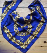 Moschino Scarf Chain Print  Large 85cm x 85cm 100% Silk Square New Italy