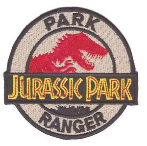 Jurassic Park Park Ranger Iron On Patch Sew On Transfer Brand New Jurassic world