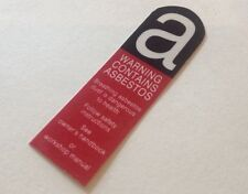 Classic Rover Mini Asbestos Warning Front Grille Panel Sticker