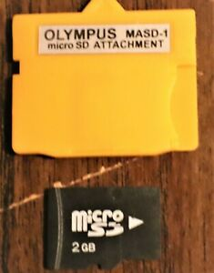 OLYMPUS/FUJIFILM XD Picture Card Adapter+2GB SanDisk MicroSDHC Memory Card