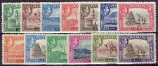 Aden 1939/46 KGVI set of 13,  very fine unhinged mint