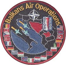 Aufnäher Patch NATO Luftwaffe SFOR KFOR Balkans Air Operations ..........A2199K