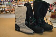womens Size 8 Sorel Kaufman Winter Felt Lined Boots Steel Shank Canada #shf