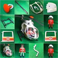Playmobil 4 x MEGAPHON Feuerwehr Polizei Hubschrauber Megafon Flüstertüte Klicky