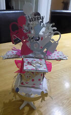 Birthday pop up card and stand personalised 16th 18th etc
