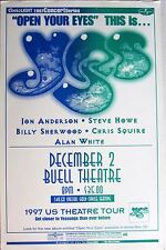 "YES 1997 ""U.S. THEATRE TOUR"" DENVER CONCERT POSTER-Anderson, Howe, Squire, White"