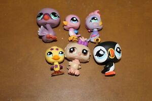 Littlest Pet Shop Lot of 6 Birds Authentic FREE SHIPPING Lot # 3