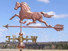 WONDERFUL LARGE COPPER HORSE W/ARROW WEATHERVANE MADE IN USA #292