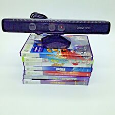 Xbox 360 Kinect Sensor & 7 Game Lot Star Wars Rabbids Sports Adventures