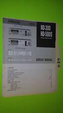 Nikko nd-300 500II 2 service manual original repair book stereo tape deck