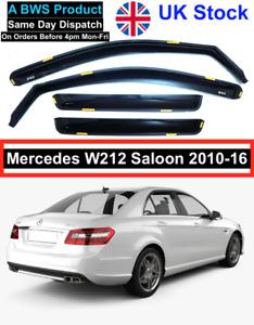 MERCEDES E Class W212 Saloon & E63 AMG 4-door 2009-2016 4pc Wind Deflectors BWS