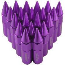 Purple 20PCS M12X1.5 60mm Cap Spiked Extended Tuner Aluminum Wheels Rim Lug Nuts