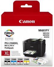 4 Original PGI2500 Canon IB4050 IB4150 MB5050 MB5150 MB5155 MB5350 MB5450 MB5455