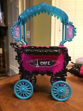 Monster High Scaris Cafe Furniture Set and Other Furniture Set Lot with MH Tote