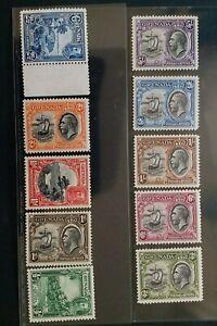 GRENADA 1934 KG V 1/2d to 5s SG 135 - 144 Sc 114 - 123 pictorial set 10 MNH