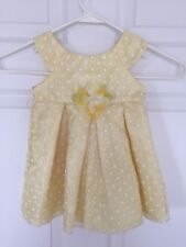 Adorable Yellow with White Polka Dots Dress from Jenny & Me - Size 12 Months