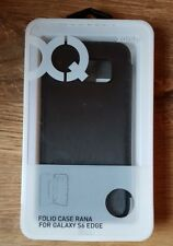 Xqisit Rana Folio case for Galaxy S6 Edge - Black Metallic
