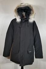 Canada Goose Men's Langford Slim Fit Down Parka, Genuine Coyote fur Black XL