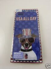 for Iphone 5 American dog USA all day Flag Bling case i phone5 Patriotic
