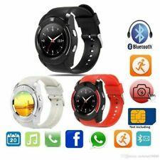 Bluetooth Smart Watch Bracelet Fitness Tracker Camera Pedometer iPhone Samsung